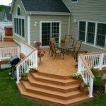 Sweet Cottage Outdoor Deck Ideas Apropos Natty Open Dining Room