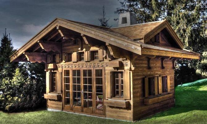 Swiss Chalet Miniature Replica Copy Children Wooden Play House
