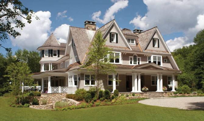 Symmetry Defines Front Shingle Style House