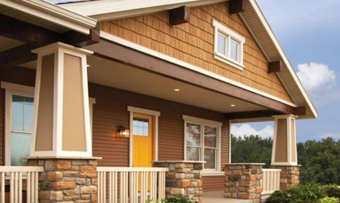 Synthetic Stone Siding Houses Cedar Shake