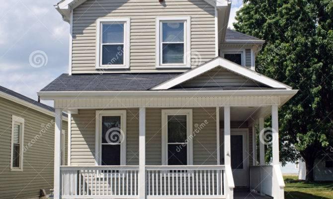 Tan House Porch American