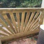 Tapered Rays Sunburst Railing Deck Mountain Laurel