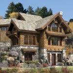 Targhee Log Cabin Home Rustic Luxury Cabins Plans