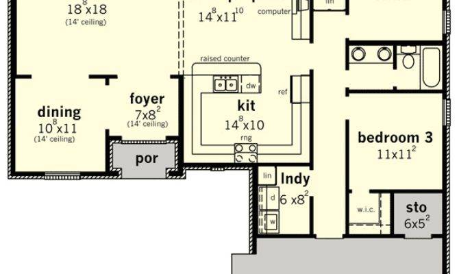 Tasteful French Country Home Plan Floor