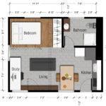 Tasty Small Studio Apartment Floor Plans