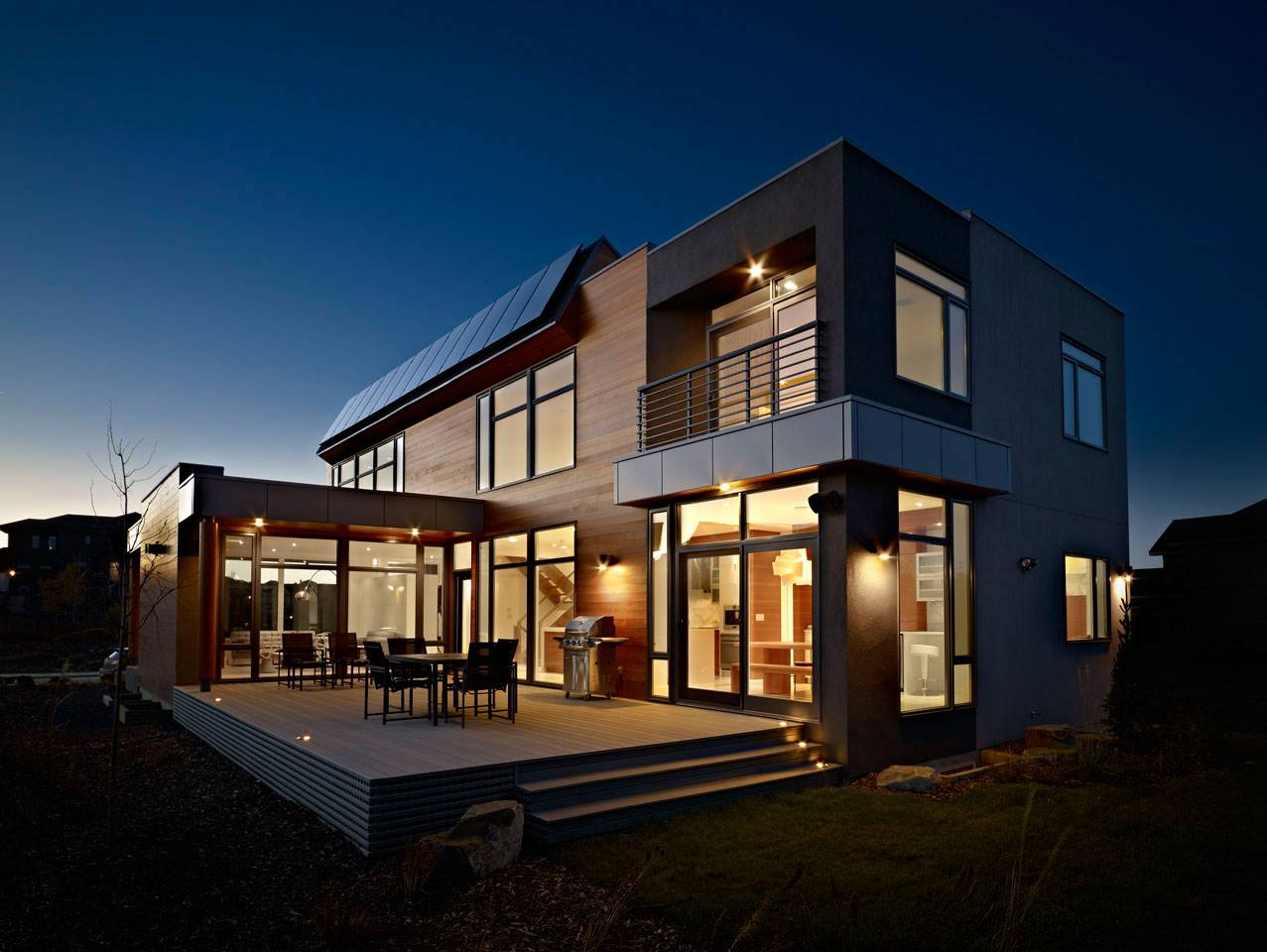 Terrace Bright Contemporary Home Edmonton Canada