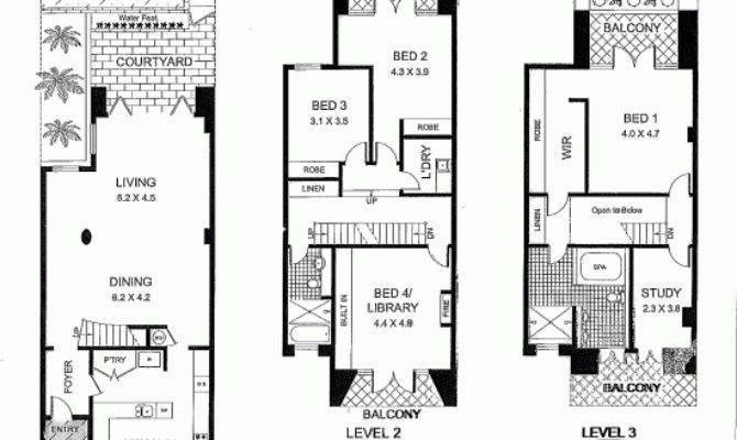 Terrace House Plans Design