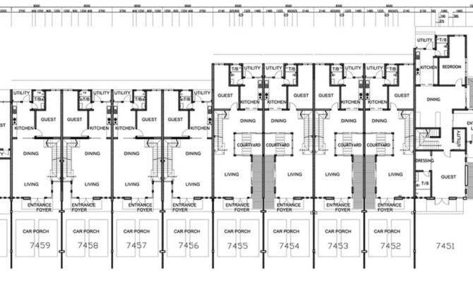 Terrace House Plans Escortsea