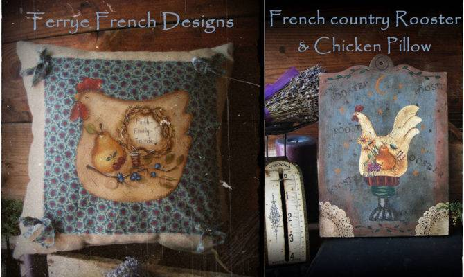 Terrye French Designs Painting Friends Country Rooster