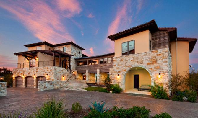 Texas Modern Mediterranean Exterior Austin