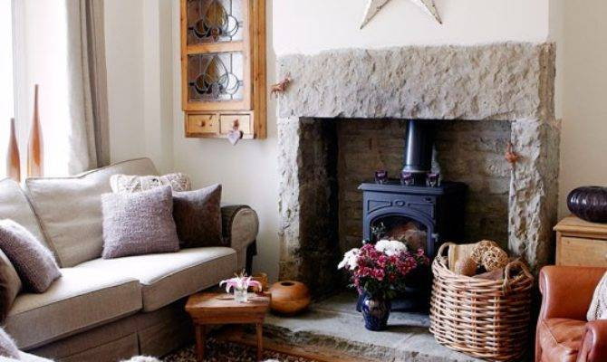 Textural Country Living Room Ideas