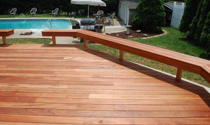 These Deck Benches Extend All Way Around Both Sides