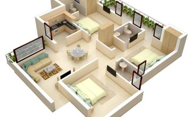 Three Bedroom Apartment House Plans Architecture Amp Design