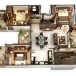 Three Bedroom Apartment House Plans Bedrooms