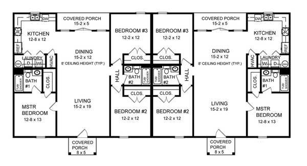 Three Bedroom Duplex Bedrooms Baths