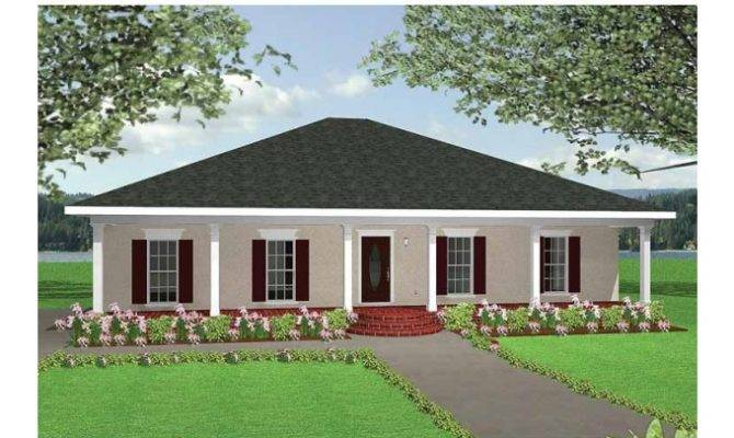 Three Bedroom New American Style House Plans Home