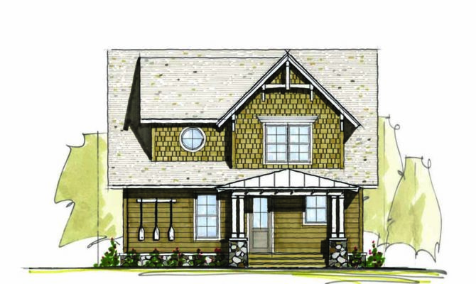 Three Bedroom Vacation Home Plan Architectural