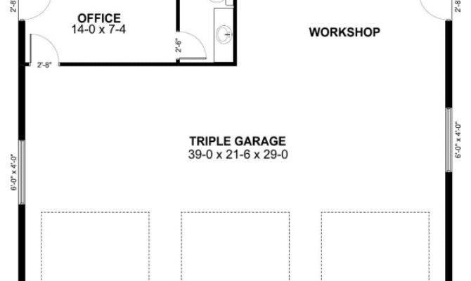 Three Car Garage Plan Office House Hunters