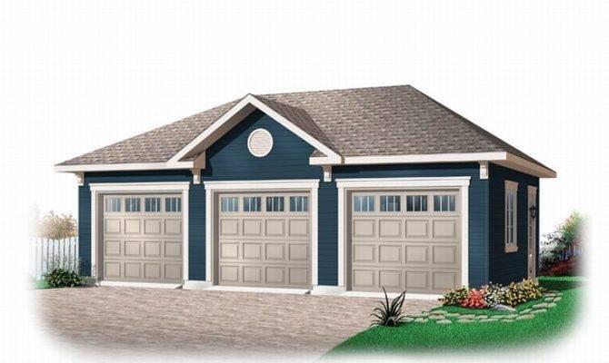 Three Car Garage Plans Traditional Plan