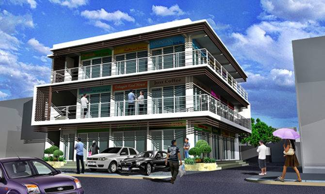 Three Storey Commercial Residential Building Behance