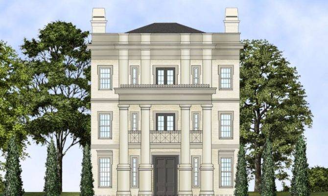 Three Story Neo Classical Home Plan