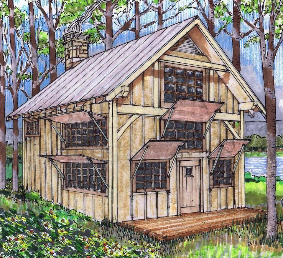 Timber Frame Plan Loft