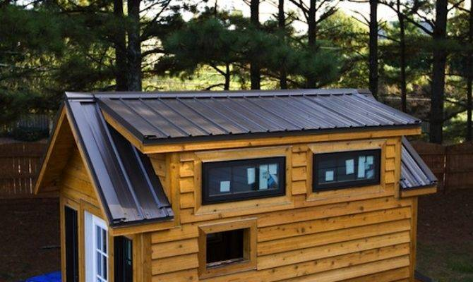 Tinier Living Gets Metal Roof Tiny House Construction