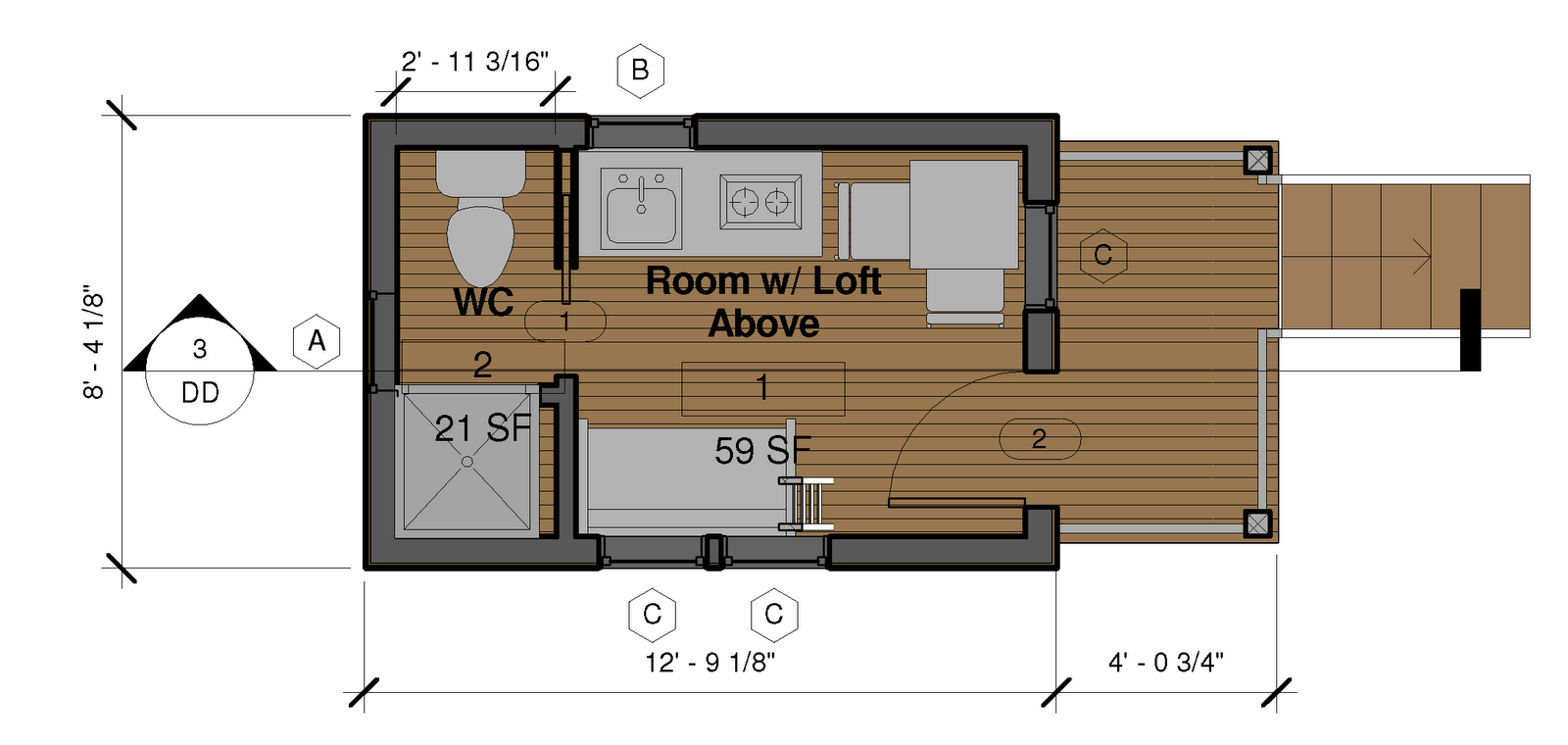 Tiny House Blueprints Maker Home Deco Plans Simple