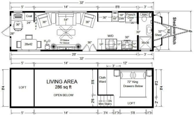 Tiny House Floor Plans Home Wheels Design