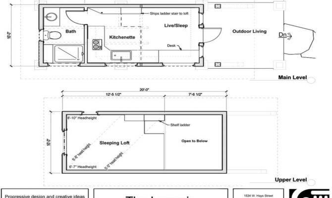 Tiny House Floor Plans Loft Houses Wheels