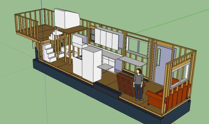 Tiny House Layout Has Master Bedroom Over Fifth Wheel Hitch