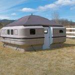 Tiny Nomads Modern Yurt Alternative Teal Panels