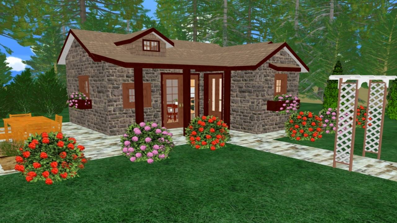 Tiny Romantic Cottage House Plan