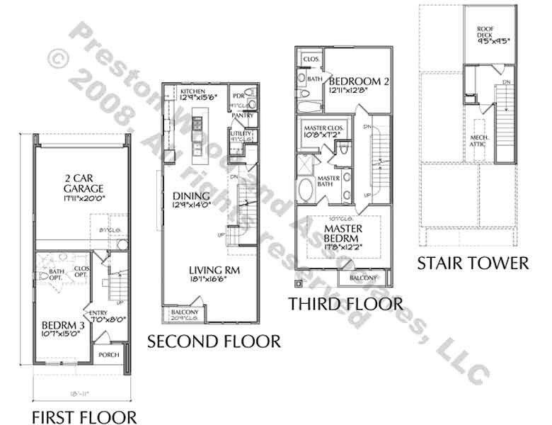 Town House Plans Modern Inspirational Townhouse Plan