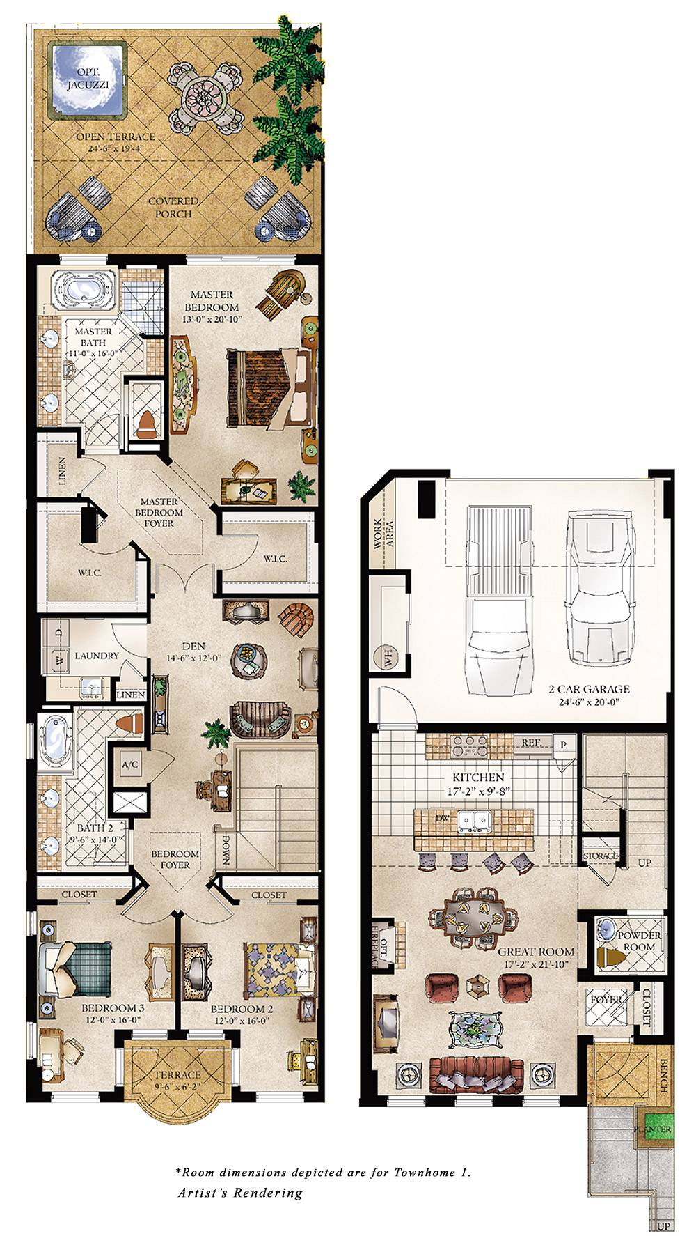 Townhouse Floor Plan Luxury Homes Plans
