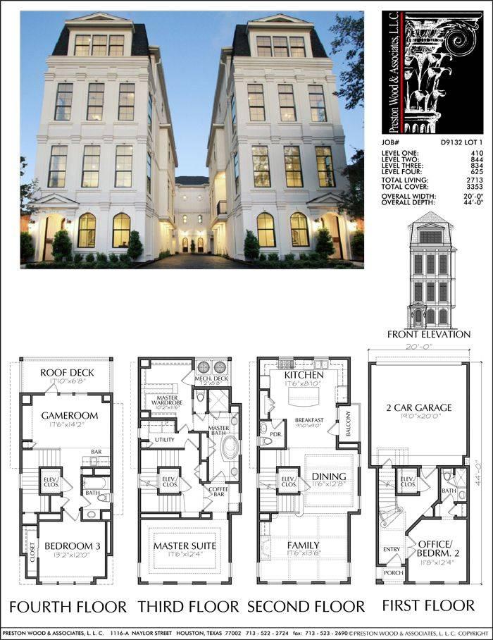 Townhouse Plan Lots Plans Pinterest