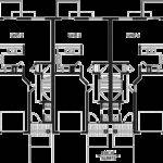 Townhouse Plans Garage Homes Floor