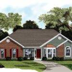 Traditional Brick Ranch Home Plan Architectural