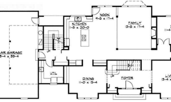 Traditional Colonial Home Plan Architectural
