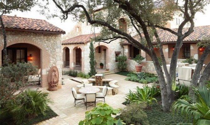 Traditional Courtyard Gardens Home Design Lover