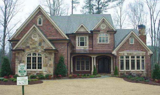 Traditional Home Accents Red Brick Stone Homes