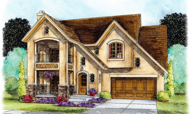 Traditional House Plan Stacked Porches