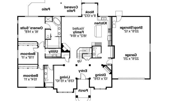 Traditional House Plan Vicksburg Floor