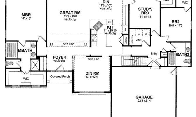 Traditional House Plans One Story Cottage