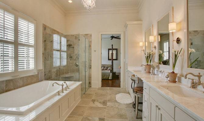 Traditional Master Suite Bathroom New