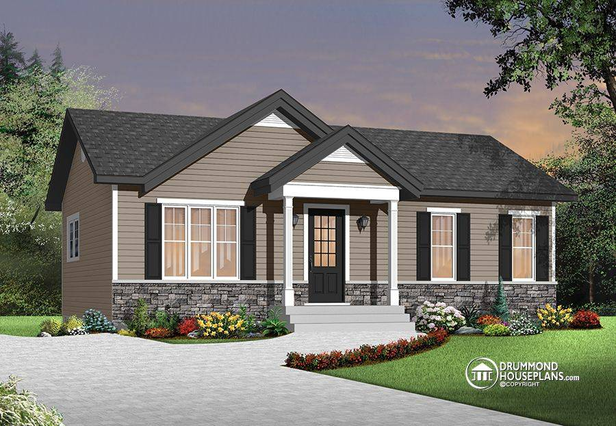 Traditional Ranch Home Open Floor Plan Concept