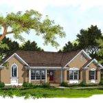 Traditional Ranch Home Plan Architectural