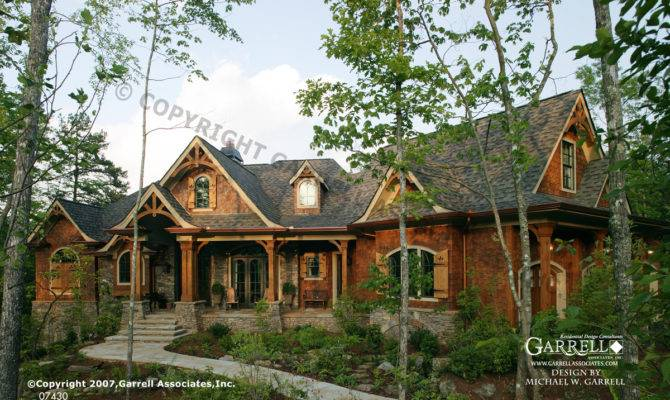 Tranquility House Plan Front Elevation Rustic Style Plans