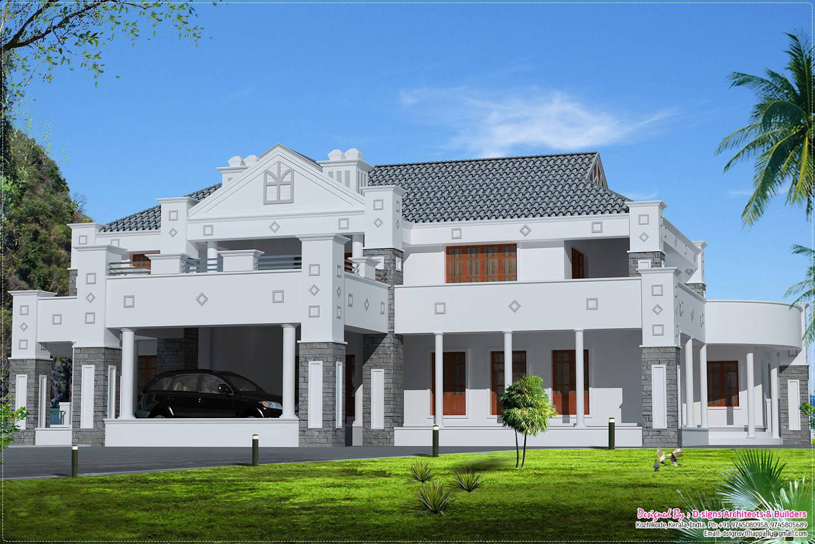 Trans Beautiful Victorian Style Kerala House Design