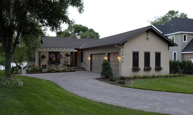 Transitional Exterior Lake Country Builders